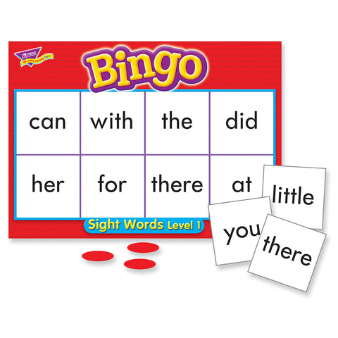 Sight Words Level 1 Bingo