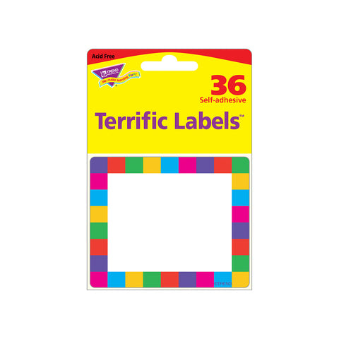 Rainbow Plaid Labels