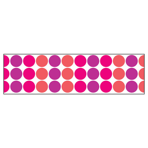 Warm Mix Big Dots Bolder Border