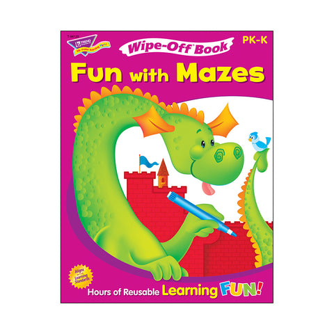Fun With Mazes Wipe-Off Bk