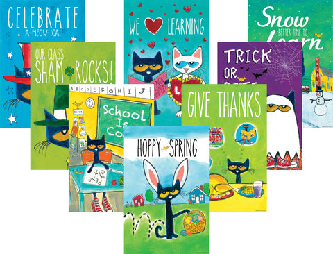 Pete The Cat Holiday Poster Set