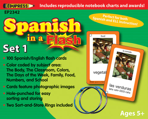 Spanish In A Flash Set 1 Cards