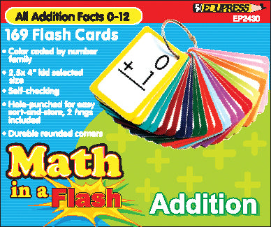 Addition Math In A Flash Cards