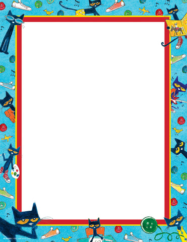 Pete The Cat Computer Paper