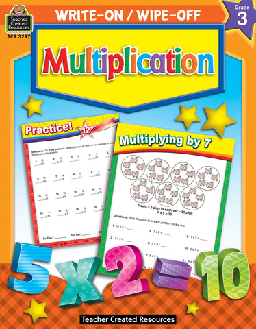 Multiplication Write On Wipe Off Bk