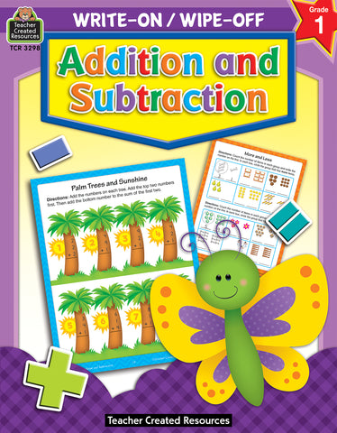 Addition & Subtraction Write On Wipe Off