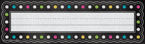 Chalkboard Brights Name Plates
