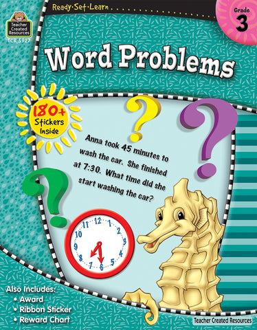 Word Problems 3 Workbook