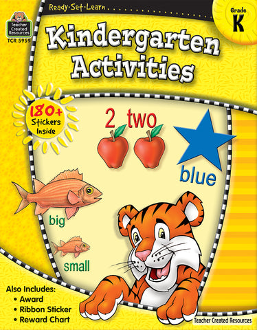 Kindergarten Activities Workbook