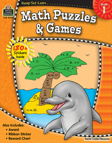 Math Puzzles & Games Workbook