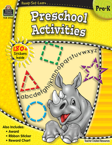 Preschool Activities Workbook
