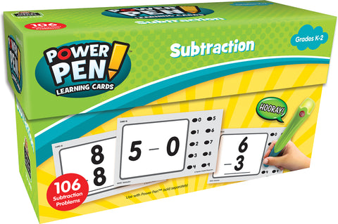 Subtraction Power Pen Cards