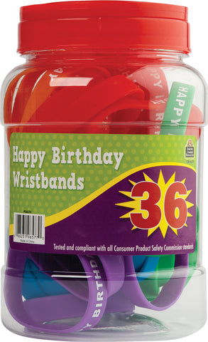 Happy Birthday Wristbands Jar