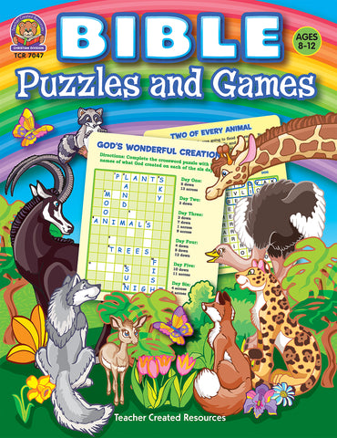 Bible Puzzles And Games Bk