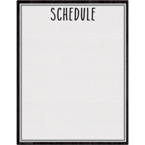 Modern Farmhouse Schedule Wipe Off Chart