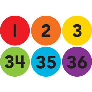 Numbers 1-36 Carpet Markers
