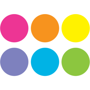 Bright Circles Carpet Markers
