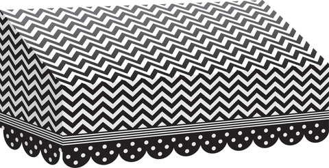 Awning Black & White Chevron & D