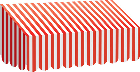 Awning Red & White Stripes