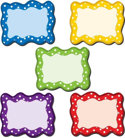 Magnetic Accents Polka Dots Blan