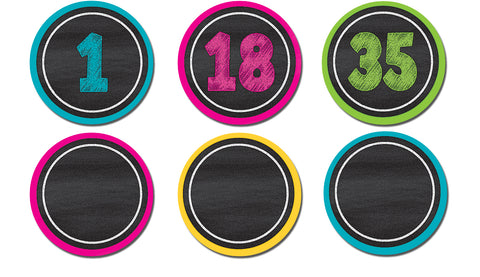 Magnetic Numbers Chalkboard