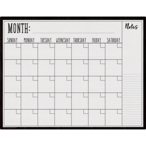 Modern Farmhouse Calendar Wipe Off Chart