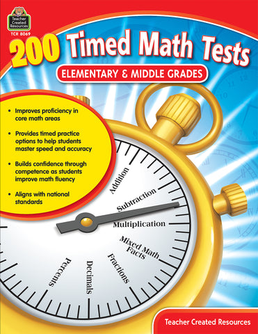 200 Timed Math Tests Bk