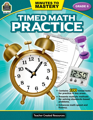 Timed Math Practice 6 Bk