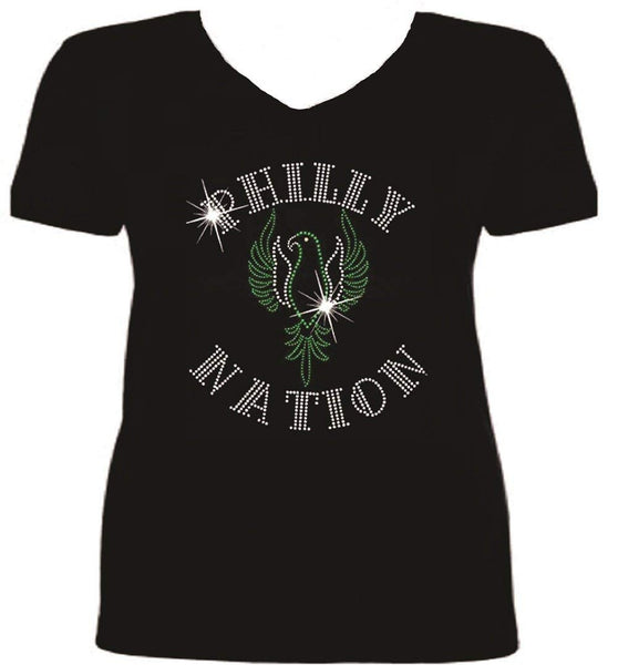 Bling Philadelphia Football Nation T Shirt sv ZBRX