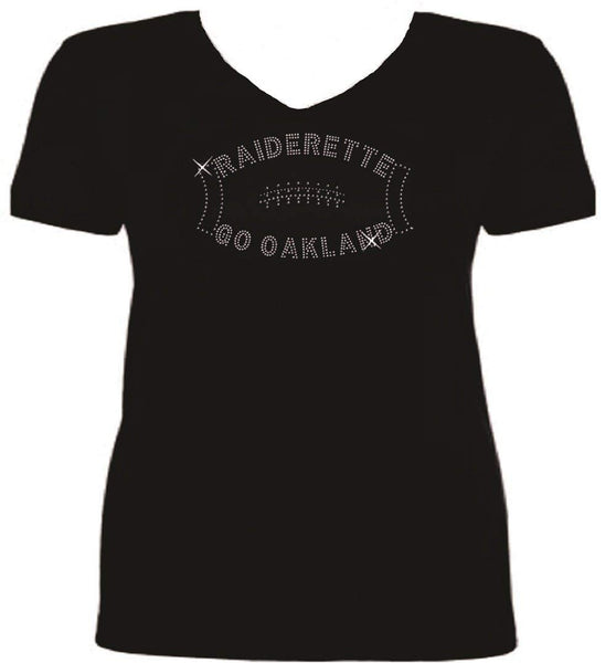 Bling OAKLAND Football Raiderette T Shirt S-V HM17