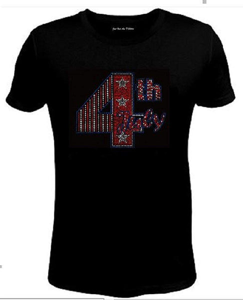 Bling Rhinestone Womens 4th of July  T Shirt  JRW-688 - SC