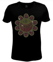 Bling Rhinestone Womens T Shirt Big Sunflower JRW-584 - SC