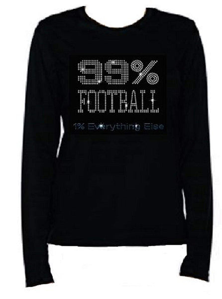 Bling Womens T Shirt 99% Football JRW-641 - LC