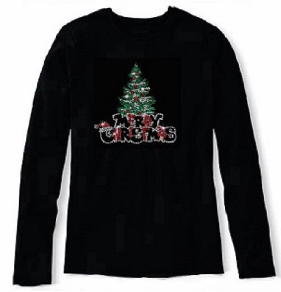 Bling Christmas Pine Tree Women's t shirt XMA-459-LR