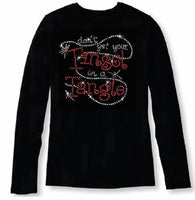 Bling Christmas Don't Get Your Tinsel in A Tangle Women's t shirt XMA-350-LR