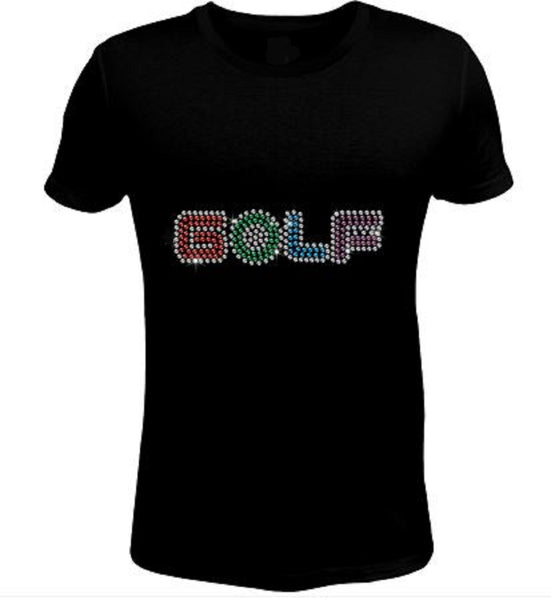 Bling Rhinestone Golf T-Shirt-SC-SPO-064