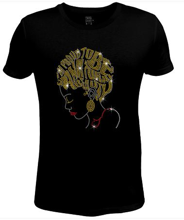Bling Rhinestone Womens T Shirt Happy to Be SC-LAD-426