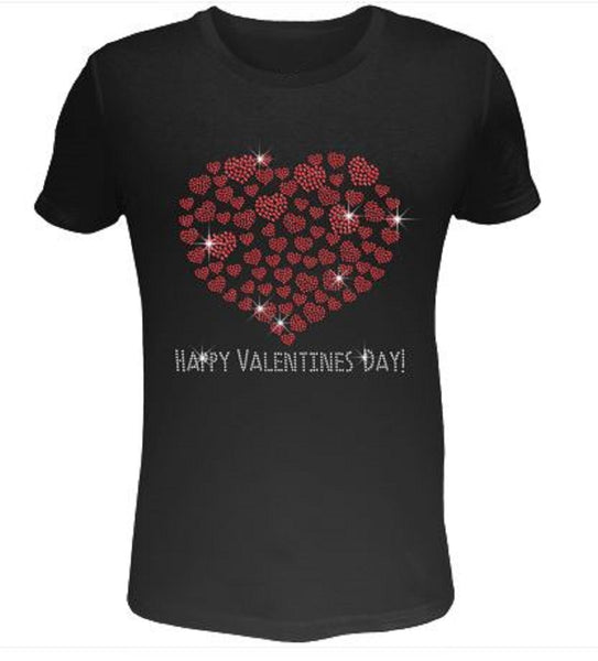 Bling Valentines Day Womens T Shirt VAL-186-SC