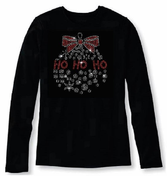 Bling Christmas HO ho ho Women's t shirt XMA-353-LR