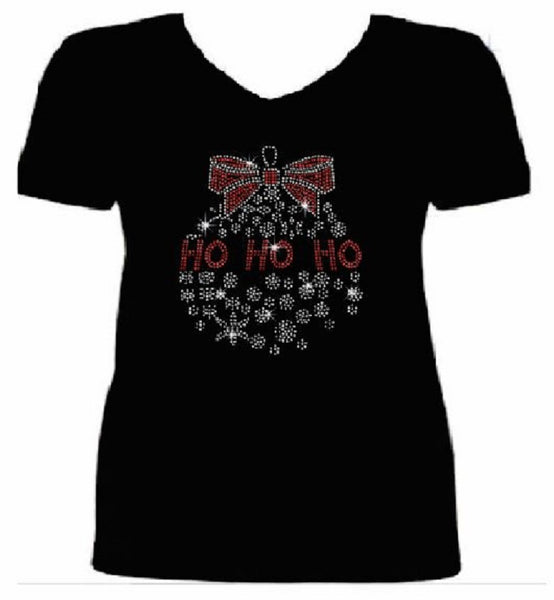 Bling Christmas HO ho ho Women's t shirt XMA-353-SV