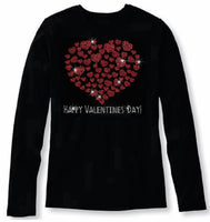 Bling Valentines Day Womens T Shirt VAL-186-LC
