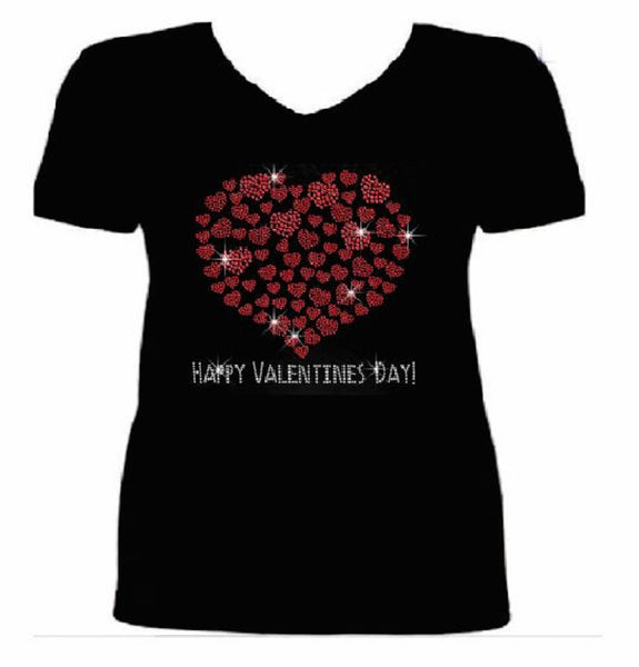 Bling Valentines Day Womens T Shirt VAL-186-SV