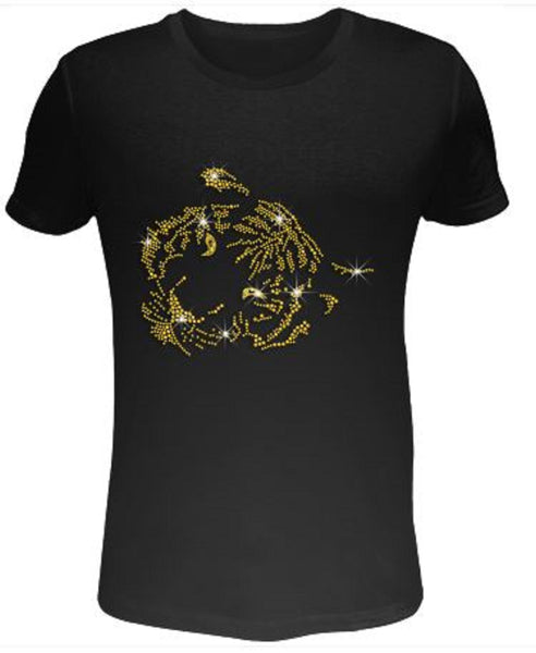 Bling Rhinestone Womens T Shirt Tiger SC-TIG-089