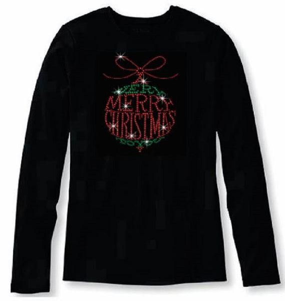 Bling A Very Merry Christmas to You Women's t shirt      XMA-395-LR