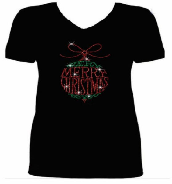 Bling A Very Merry Christmas to You Women's t shirt      XMA-395-SV