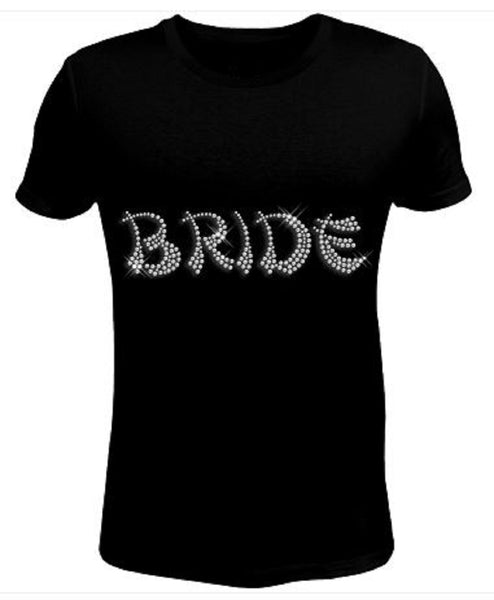 Bling Rhinestone Womens T Shirt Bride JRW-168-sc