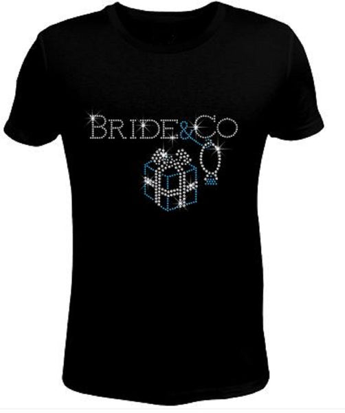 Bling Rhinestone Womens T Shirt Wedding Bride & Co. JRW-117