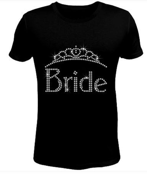 Bling Rhinestone Womens T Shirt Bride JRW-143-sc