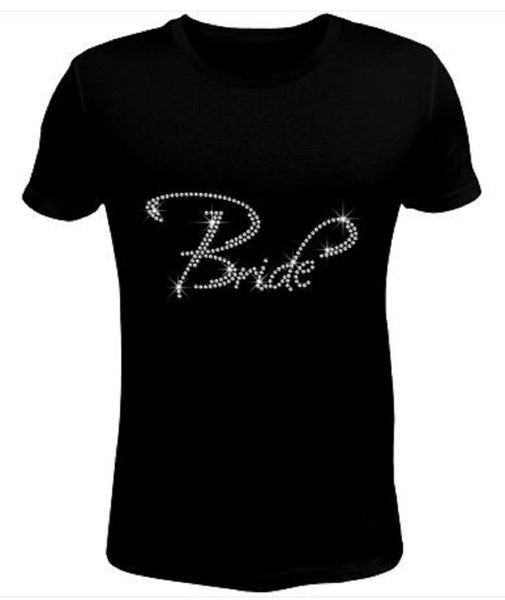 Bling Rhinestone Womens T Shirt Bride JRW-158