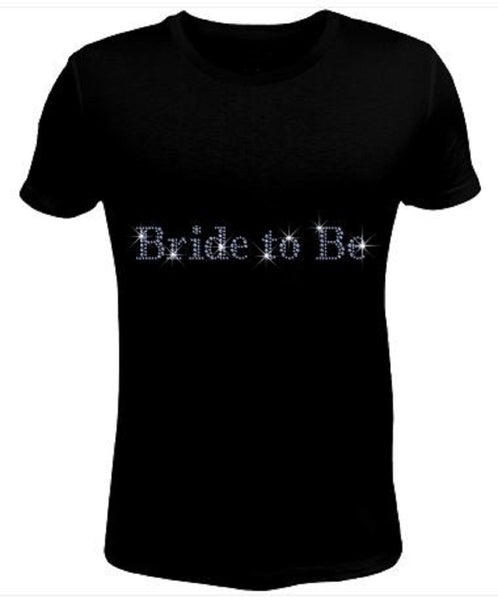 Bling Rhinestone Womens T Shirt Bride To Be JRW-157-SC